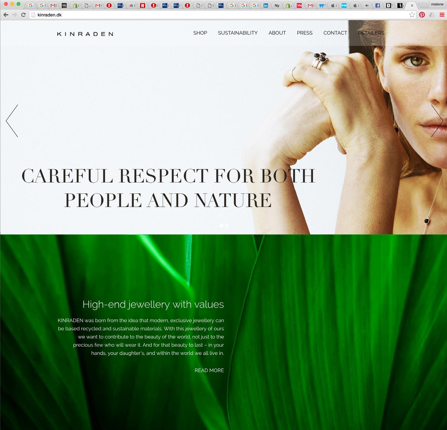 Malene Kyed web design