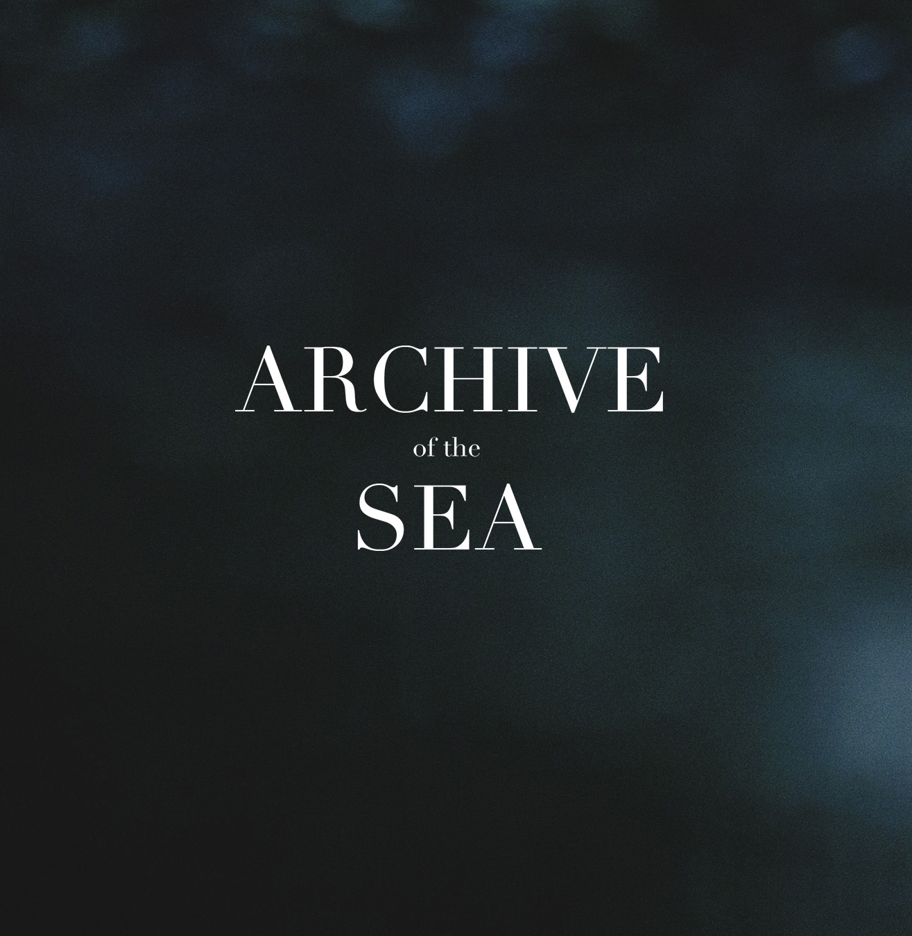 archive of the sea logo malene kyed
